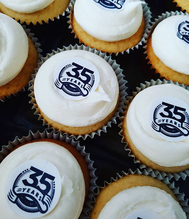 Milestone cupcakes_ 35 years in business