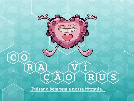 """Farmácia de manipulação lança o """"Coraçãovírus"""" para trazer otimismo e conforto durante a quarentena"""