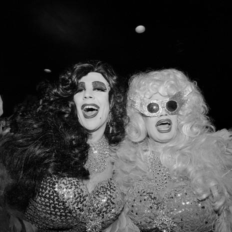 Two Queens at the COYOTE Hookers Masquerade Ball Copacabana, NY, NY 1977
