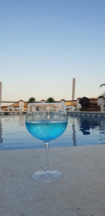 Gin and tonic by the pool