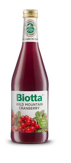 Biotta Organic Wild Mountain Cranberry Juice 500ml