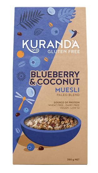 Kuranda Gluten Free Muesli Blueberry & Coconut (Paleo Blend) 350g
