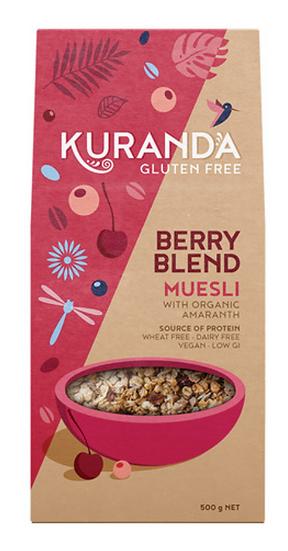 Kuranda Gluten Free Muesli Berry Blend 500g