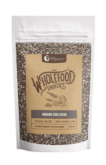 Nutra Organics Wholefood Pantry Organic Chia Seeds 200g