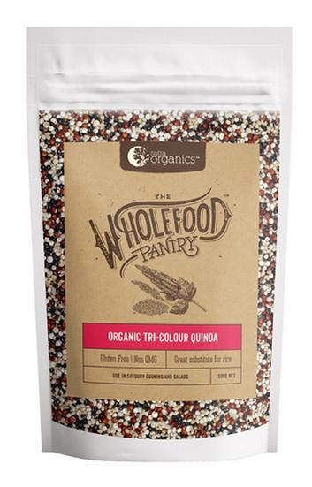 Nutra Organics Wholefood Pantry Organic Tri-Colour Quinoa 500g