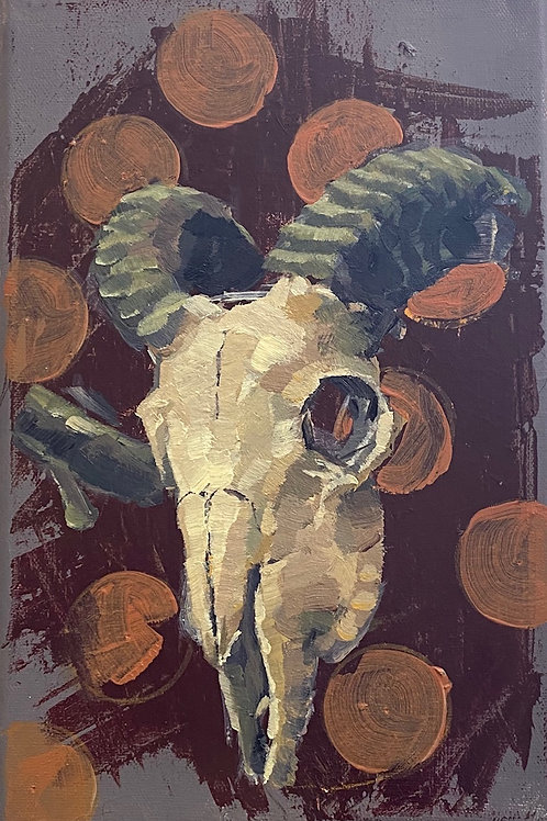 Ram Skull study (Black Hats, White Hats series)