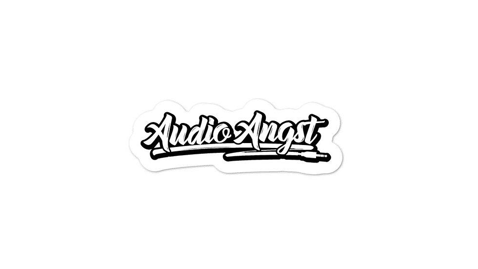Audio Angst Bubble Font Sticker