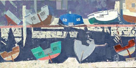 Лодки,30Х60см,холст,масло,Karelina.JPG