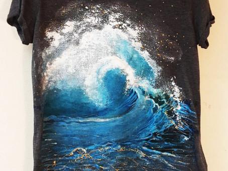 Ocean's wave T-shirt