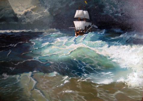 Море. 70х90 см,х.м.,2011год, Maria Karel