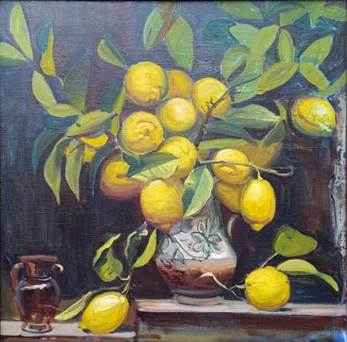 Vaso di limoni