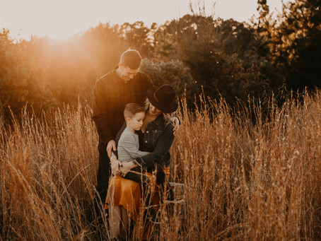 A Golden Sunset Family Session