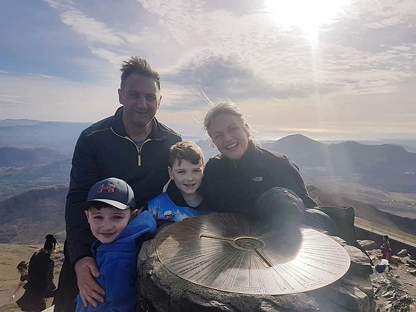 Sober Coach - Family on top of Mountain