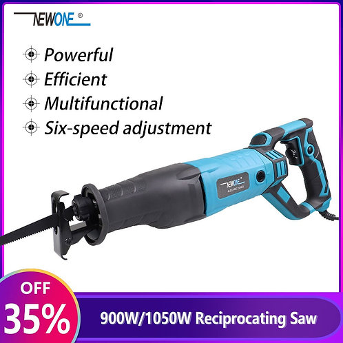 Multifunctional Reciprocating Saw Six-Speed Adjustment, Cuts Wood & Metal