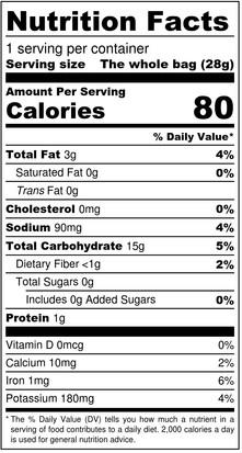 Snacklins - Barbeque - Nutrition Label -