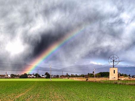 Dramatic Rainbow in Stormy Mood