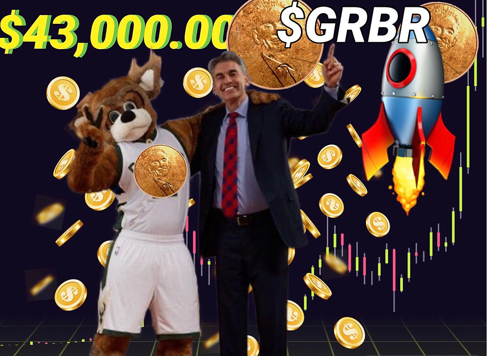 Grubercoin celebrating