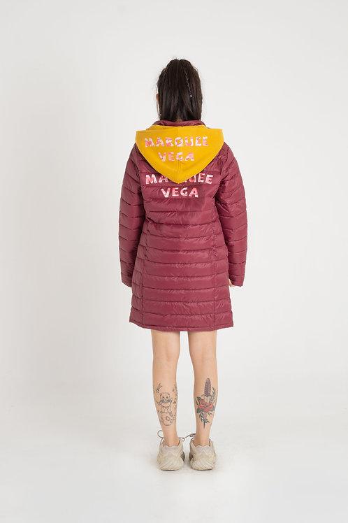 Ladies' Padding long coat w/detachable hood
