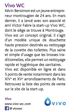 Montrouge magazine article sur les douchettes vivo wc