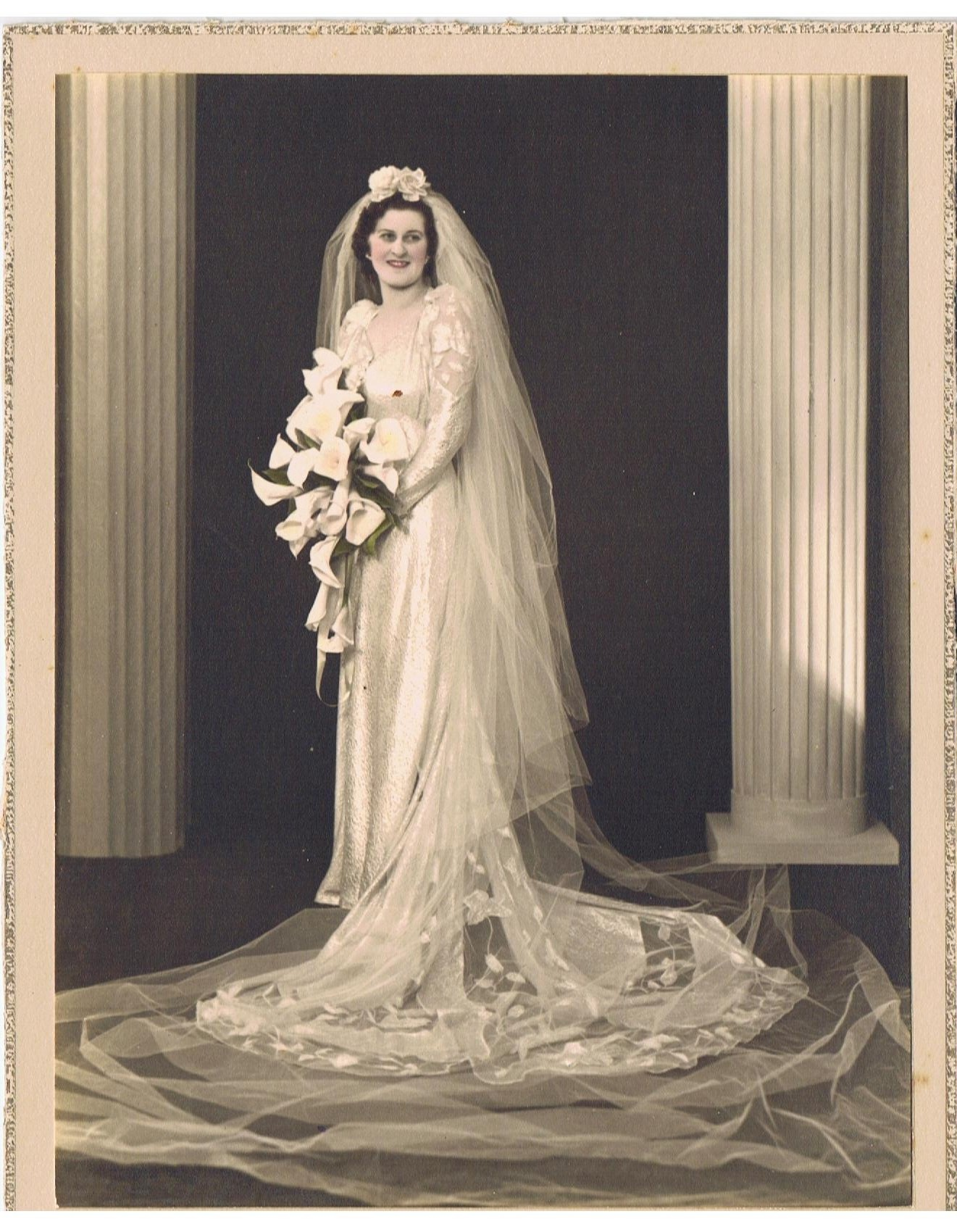 gerta on her wedding day