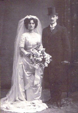 ben and esther 1910 wedding day