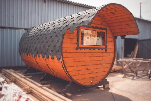 Баня-бочка 4х2,4 метра В НАЛИЧИИ
