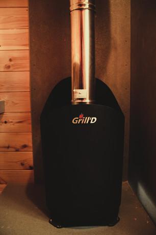 Печь Aurora mini Grill'D с внешней топкой.