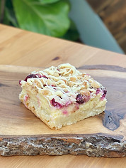 White Chocolate Cranberry Custard Bar