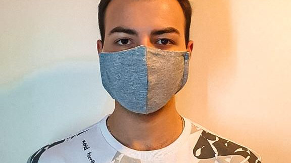50 Máscaras Bico de Papagaio Cinza e elástico confortável  - adulto