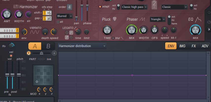 Harmor tutorial, Harmonizer, matrix and distribution.