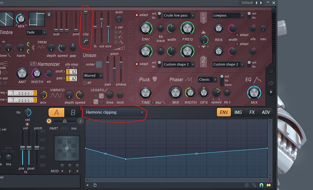 Harmonic Clipping in FL Studio Harmor