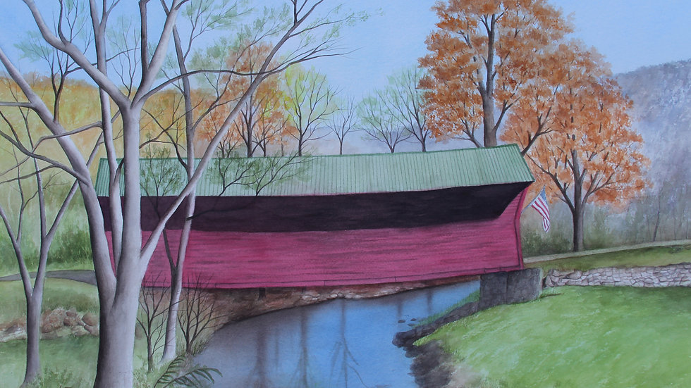 Sinking Creek Covered Bridge by Betty Moore
