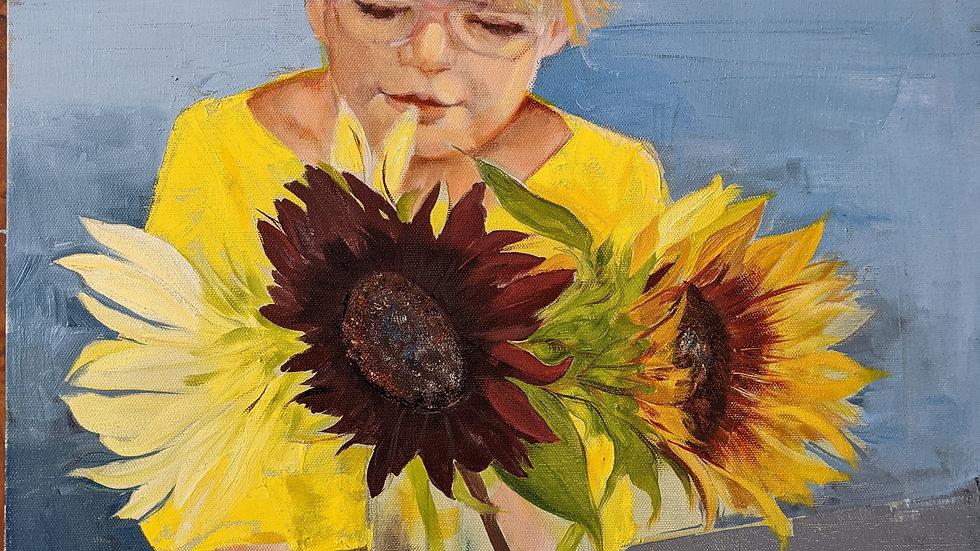 Her Sunflower by Teresa Regil