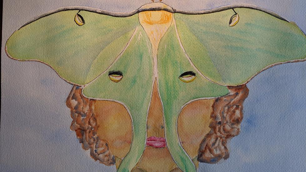 LUNA Moth Mask by Mary Ratliff