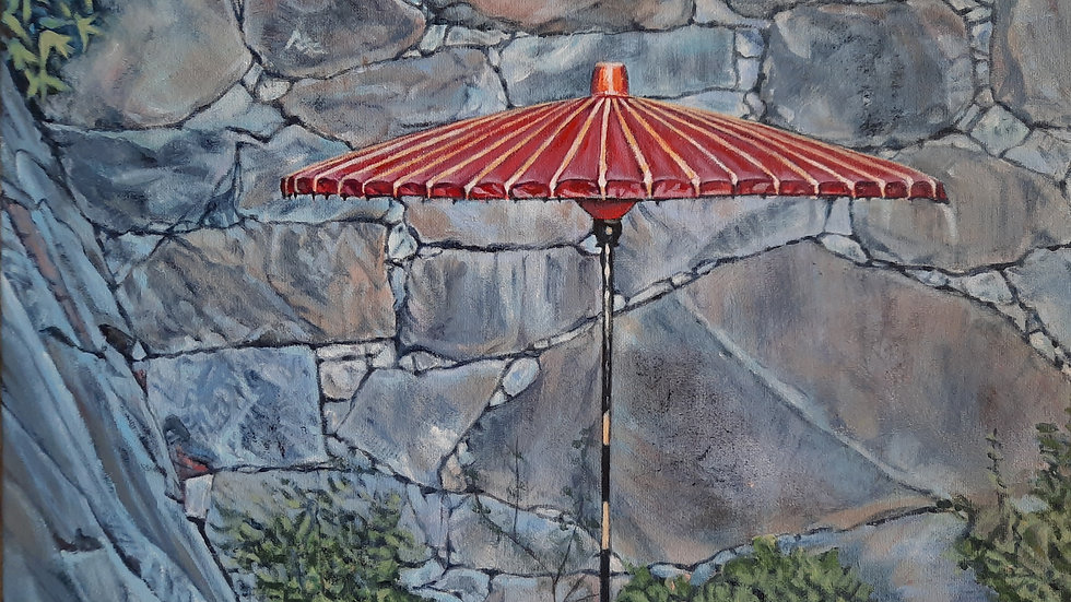 Red Umbrella by Beth Rodgers