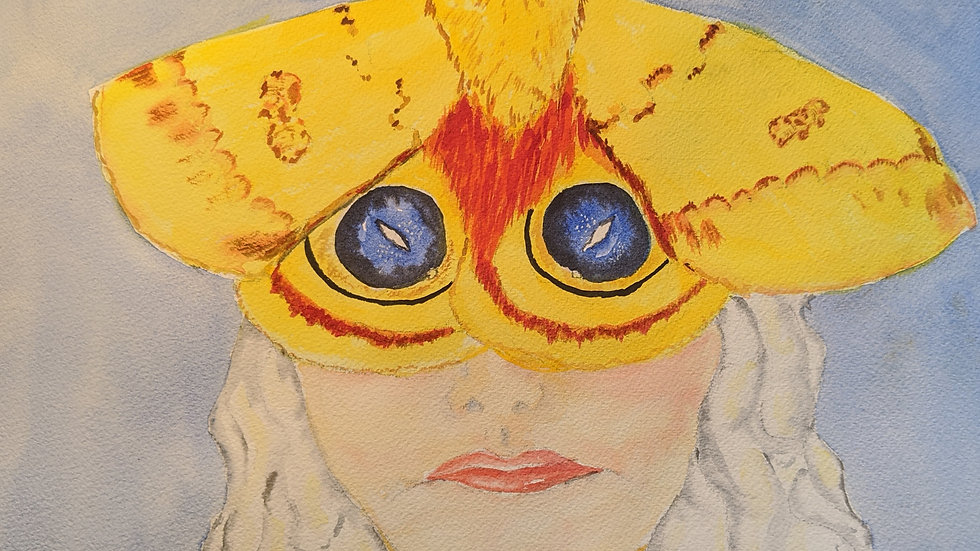 IO Moth Mask by Mary Ratliff