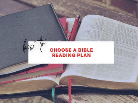 Choosing a Bible Reading Plan