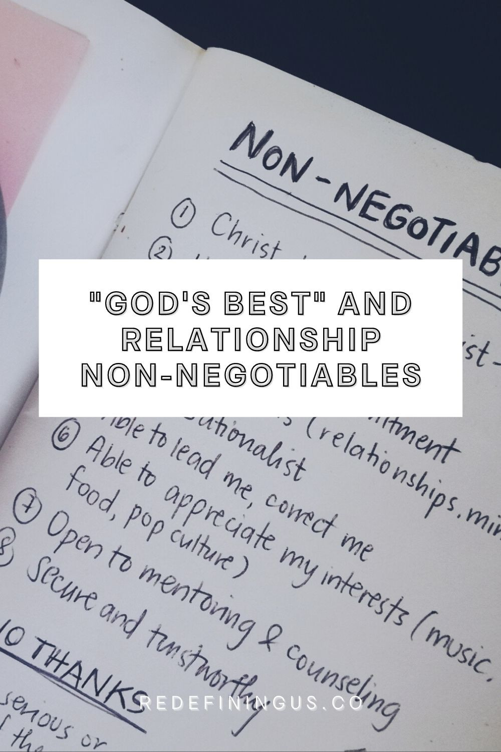 """""""God's Best"""" and Relationship Non-Negotiables"""