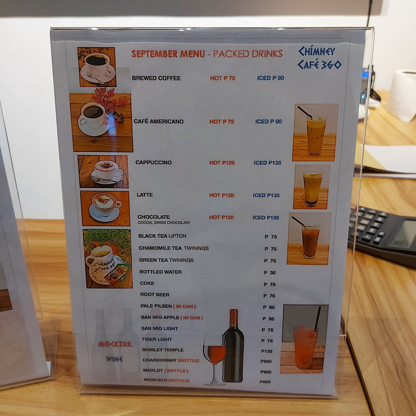 ArtSector Gallery and Chimney Cafe 360 Menu