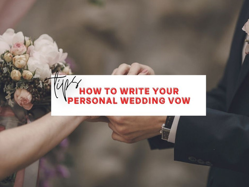 3 IMPORTANT Tips For Writing Wedding Vows