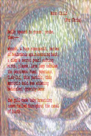 "Poetry/Art: ""Moon Child"" and ""Rain Walk"""