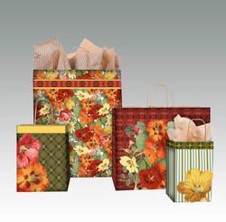 Fall Flower shopping bags
