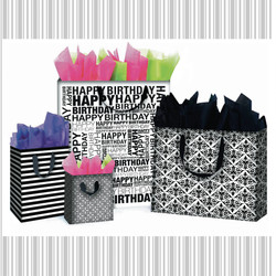 Birthday coordinating gift bags