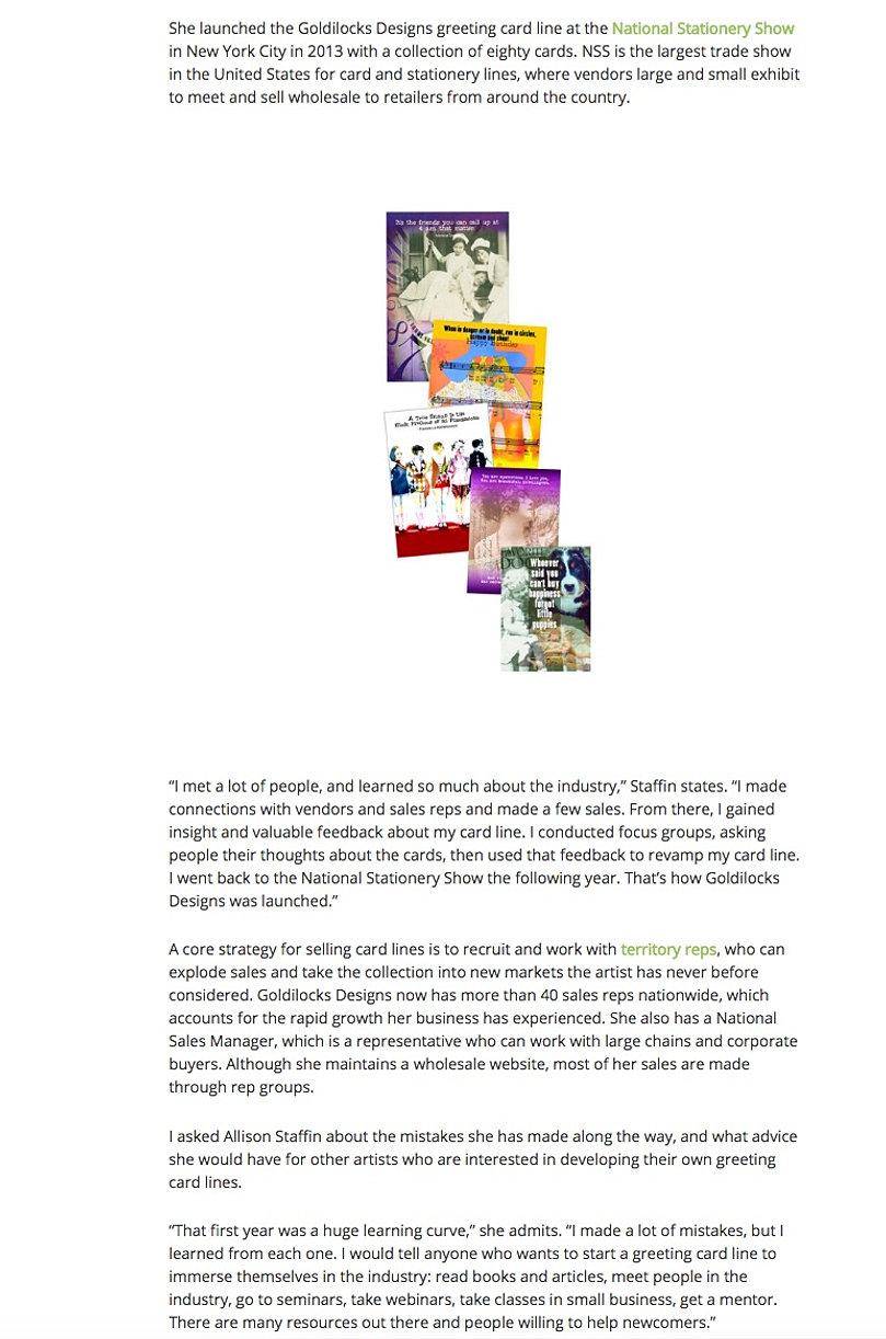 Goldilocks designs cards unique greeting cards greeting cards press artsy shark backg kristyandbryce Choice Image