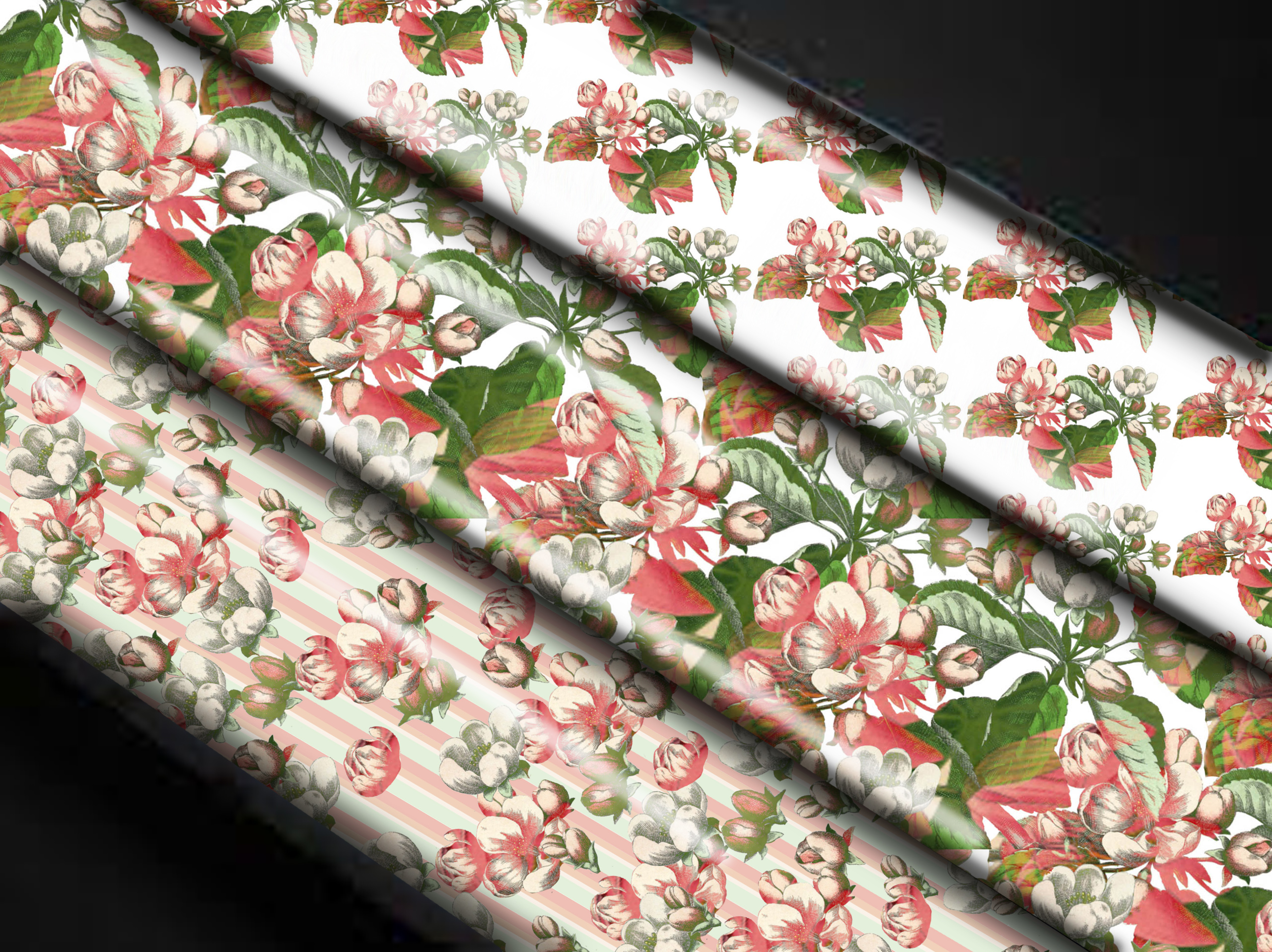 apple blossom wrapping paper
