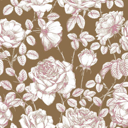 Gold and Pink Floral pattern