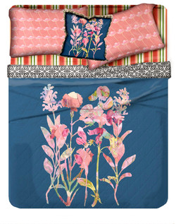 Floral mix ins bedding