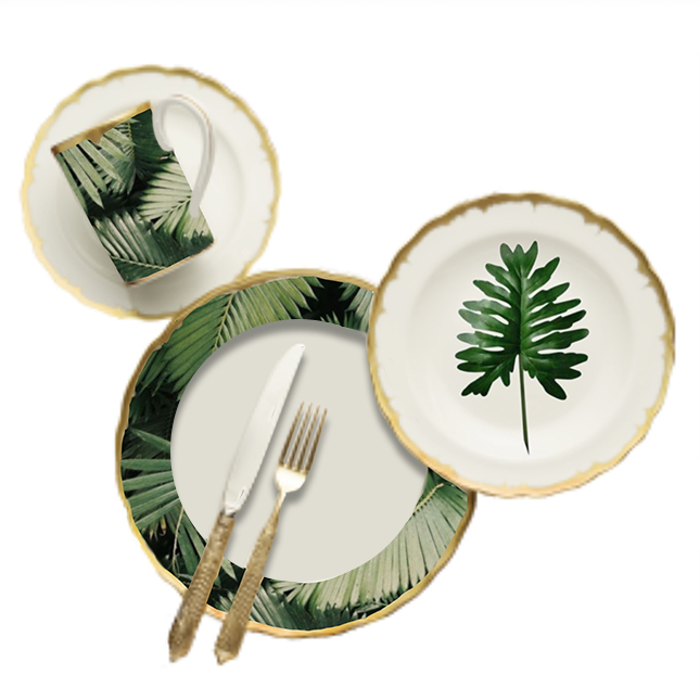 tropical plate set 4