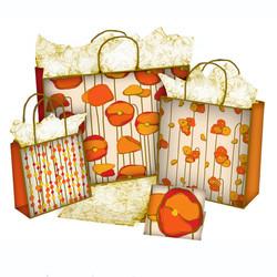 orange floral3 bags
