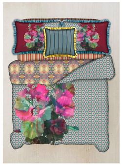 Floral mash up bedding